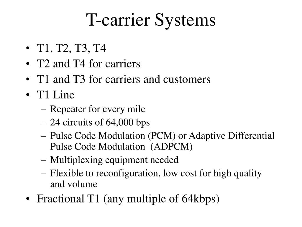 T-carrier Systems