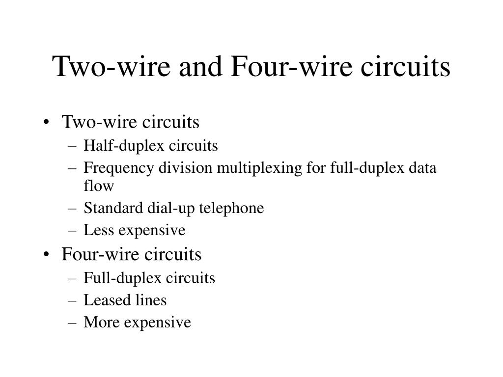 Two-wire and Four-wire circuits