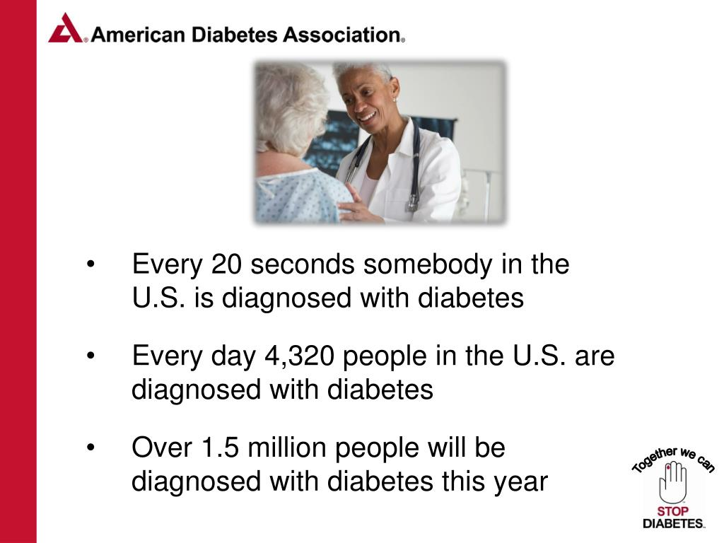 Every 20 seconds somebody in the U.S. is diagnosed with diabetes