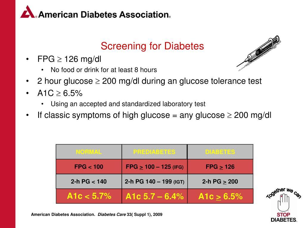 Screening for Diabetes