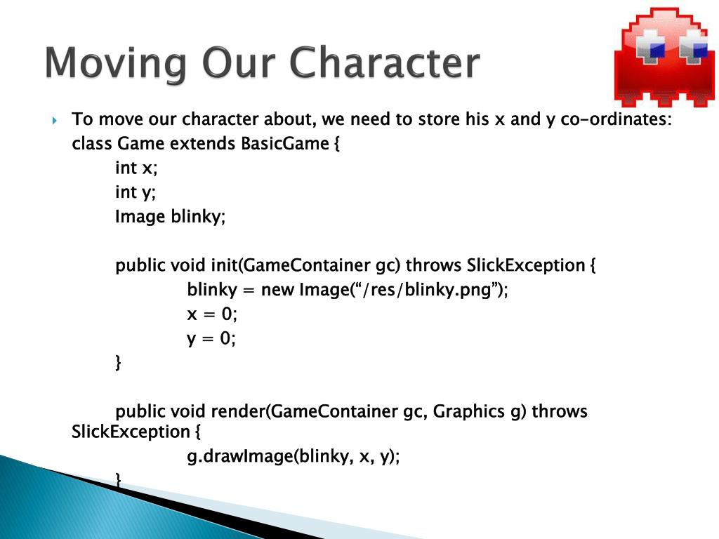 Moving Our Character