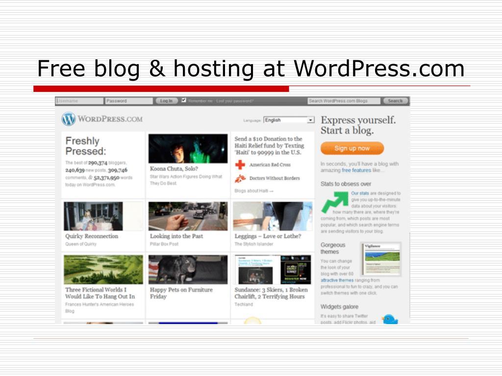 Free blog & hosting at WordPress.com