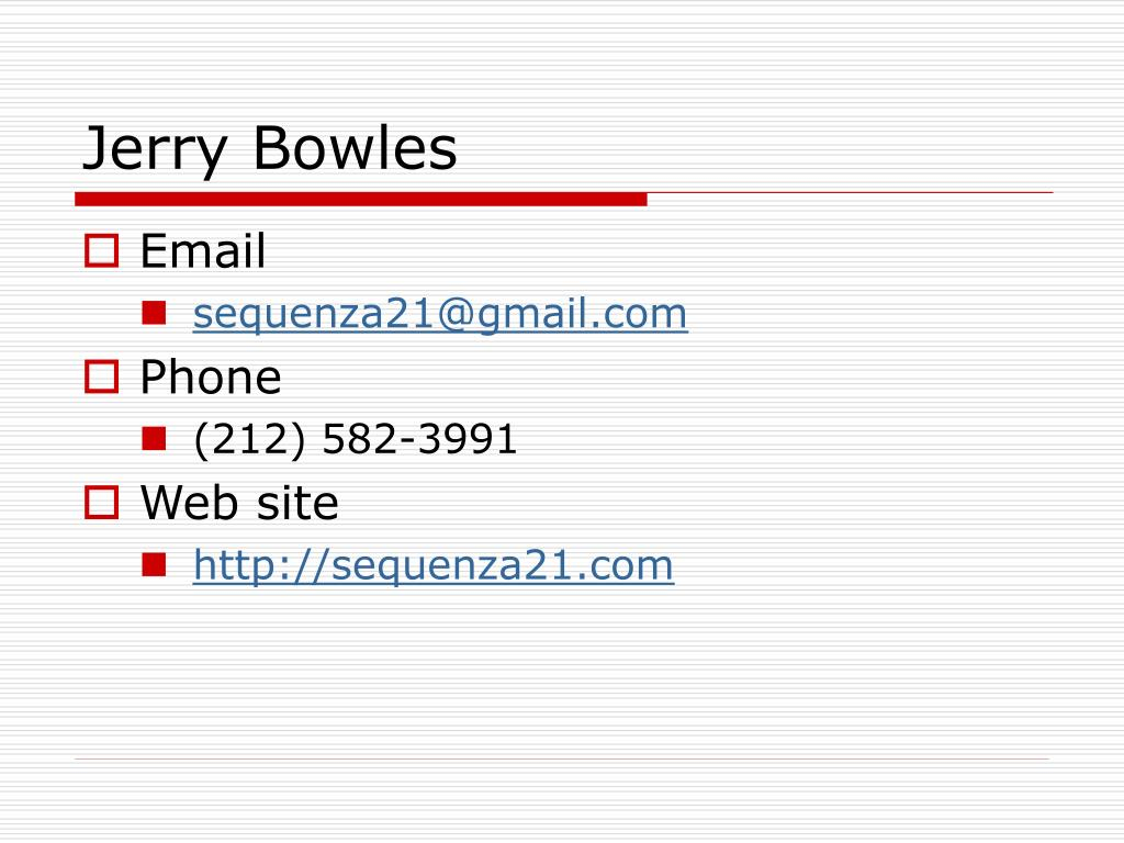 Jerry Bowles