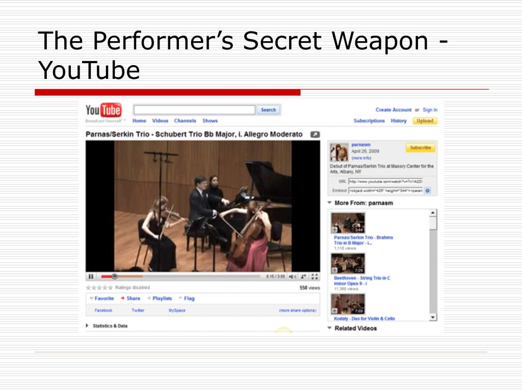 The Performer's Secret Weapon - YouTube