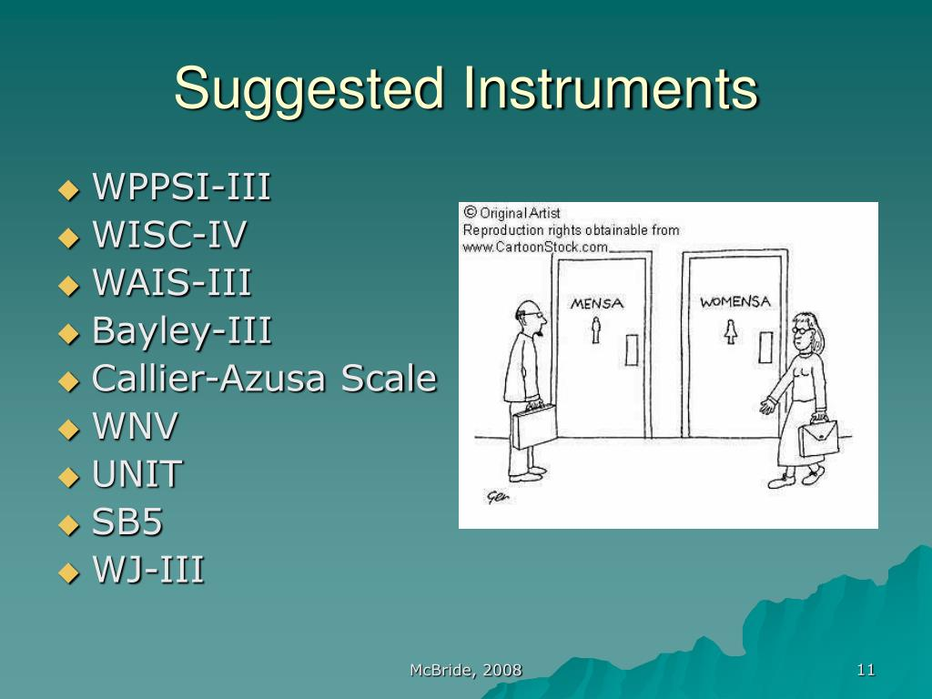 Suggested Instruments