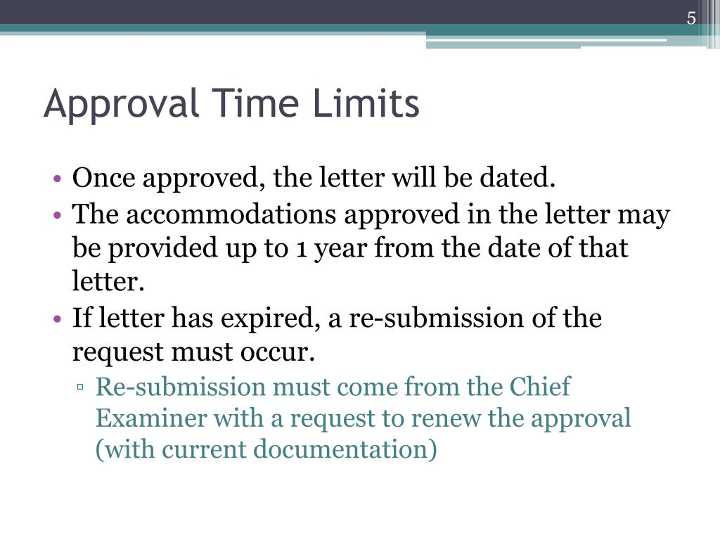 Approval Time Limits