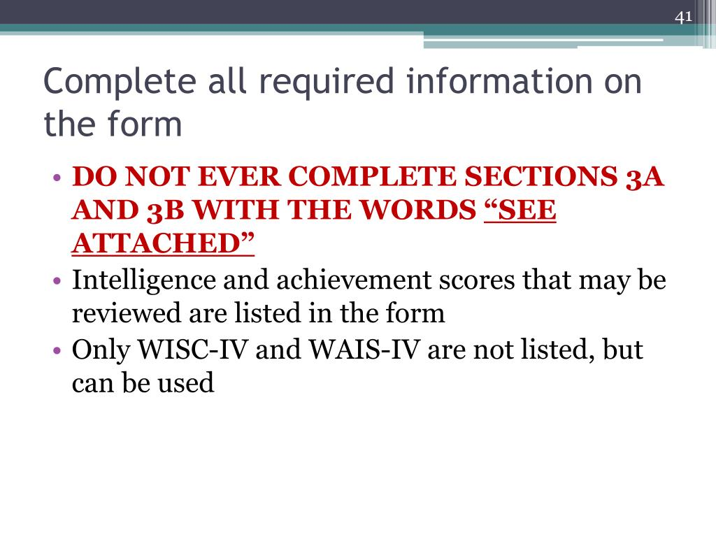 Complete all required information on the form