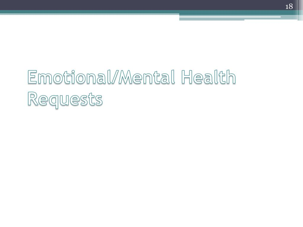Emotional/Mental Health Requests