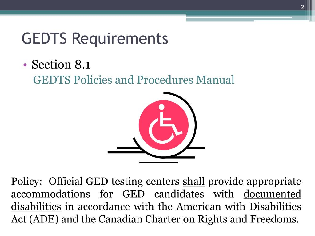 GEDTS Requirements
