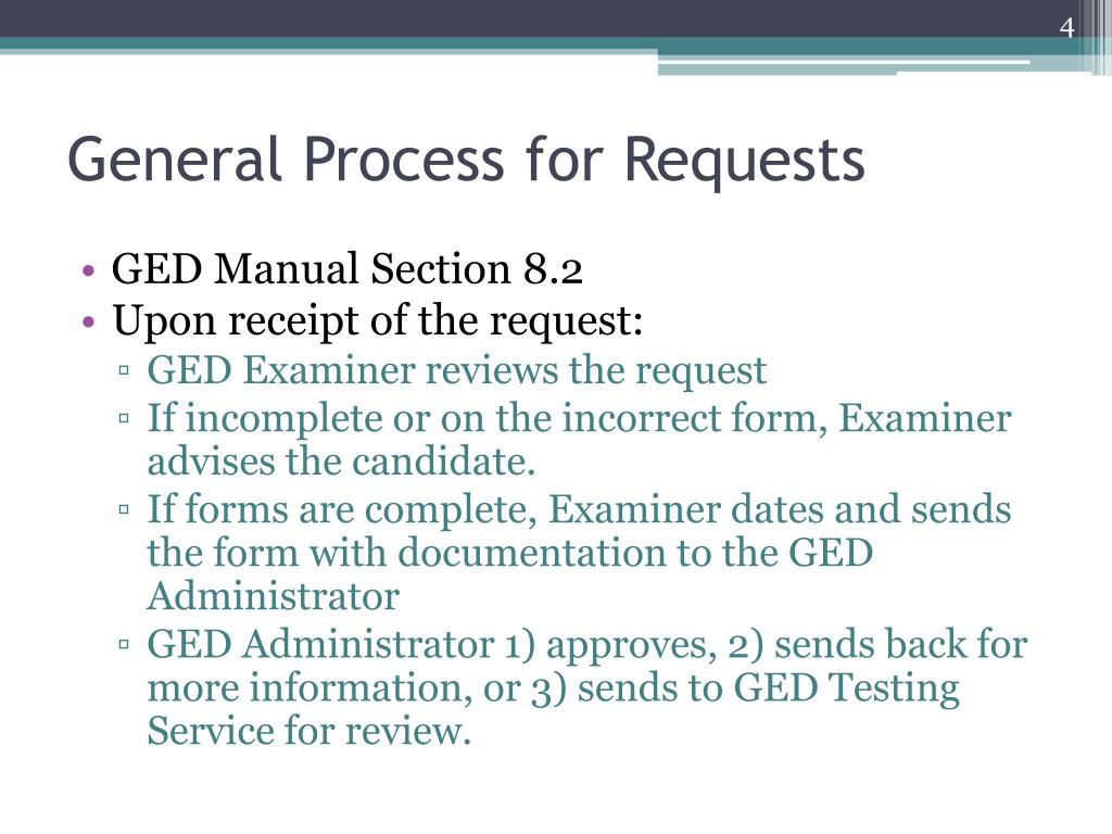 General Process for Requests