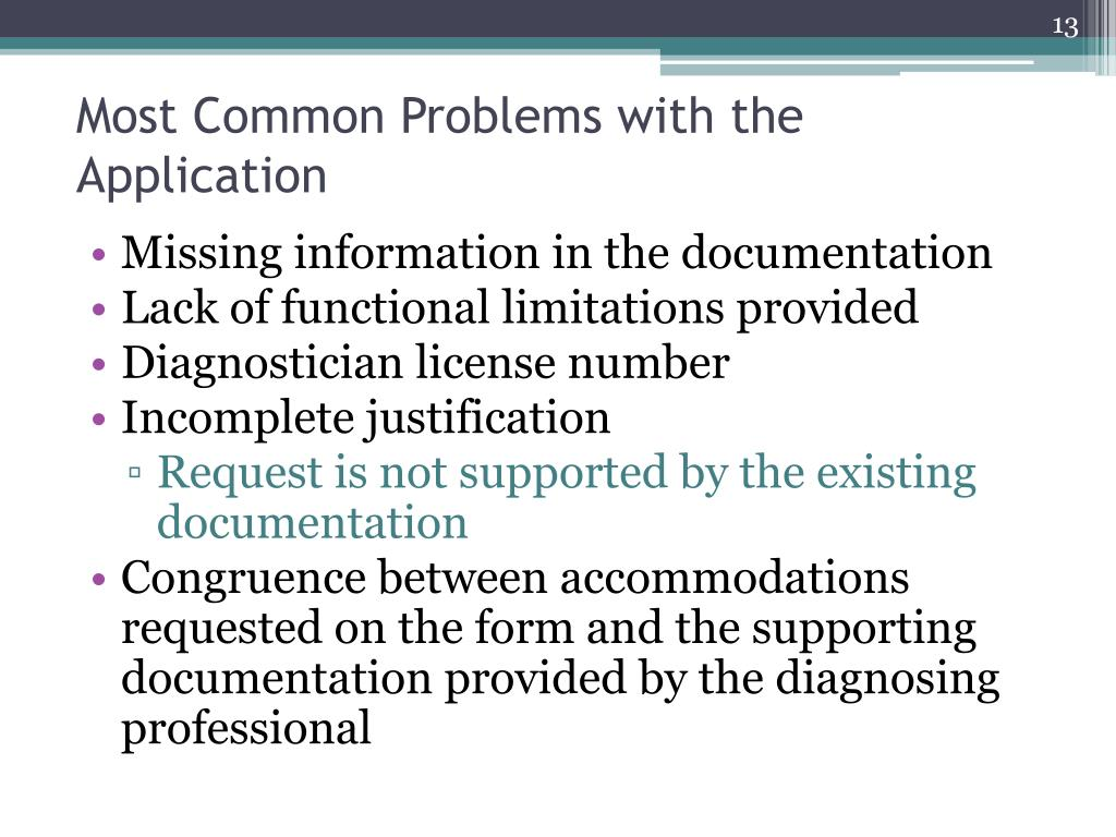 Most Common Problems with the Application