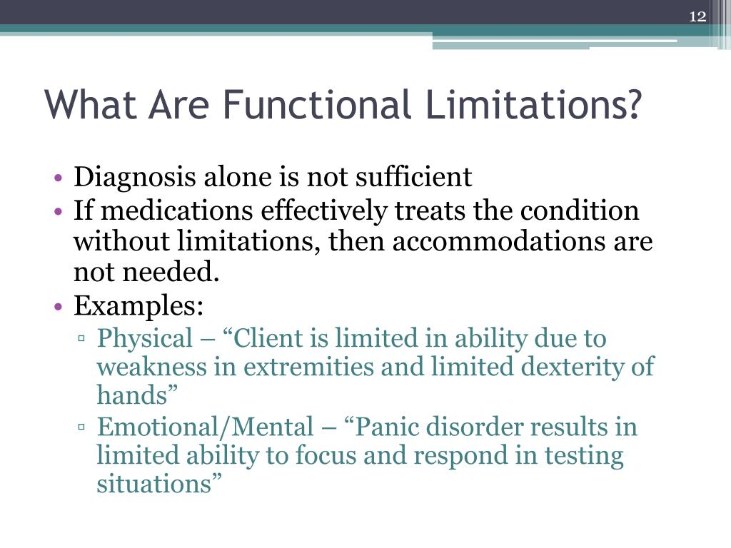 What Are Functional Limitations?