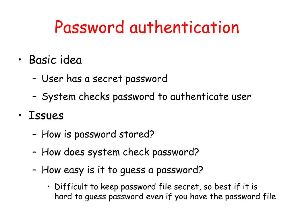 Password authentication
