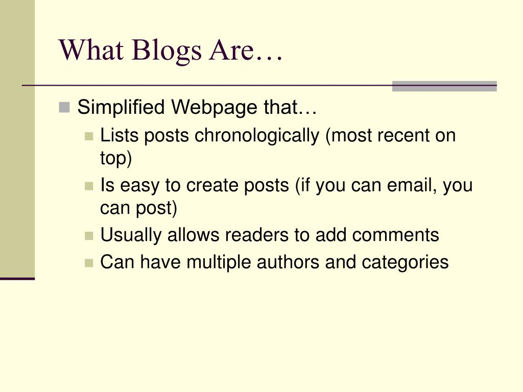 What Blogs Are…