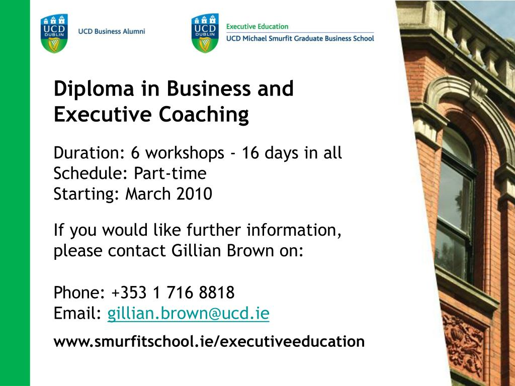 Diploma in Business and Executive Coaching