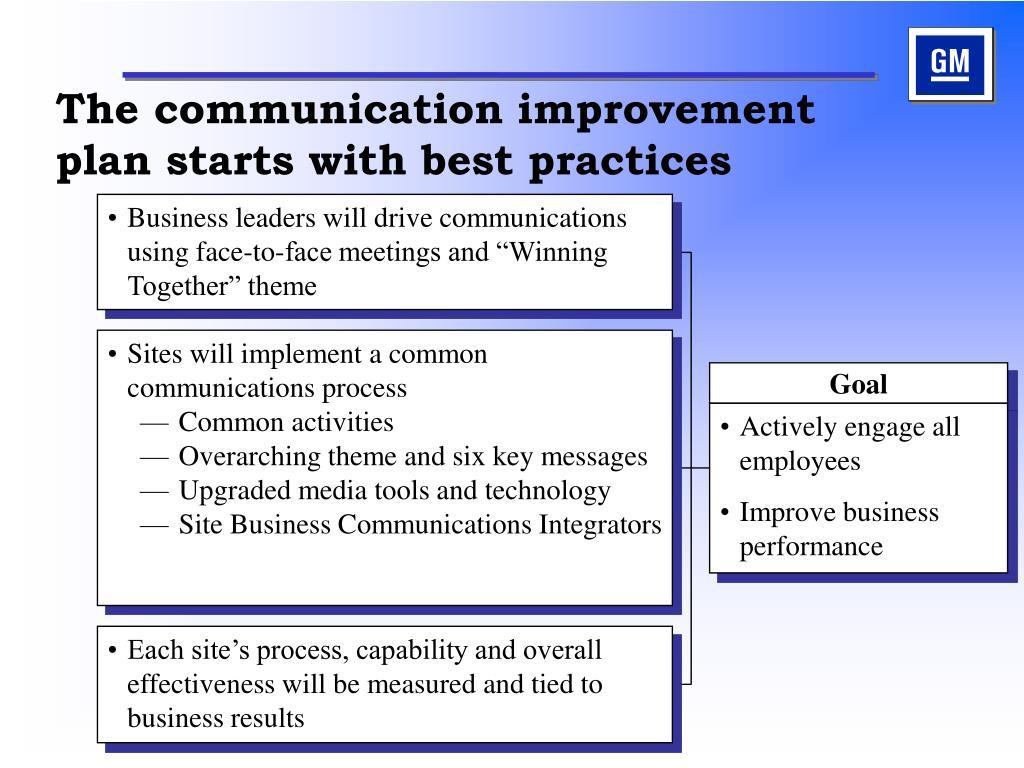 The communication improvement