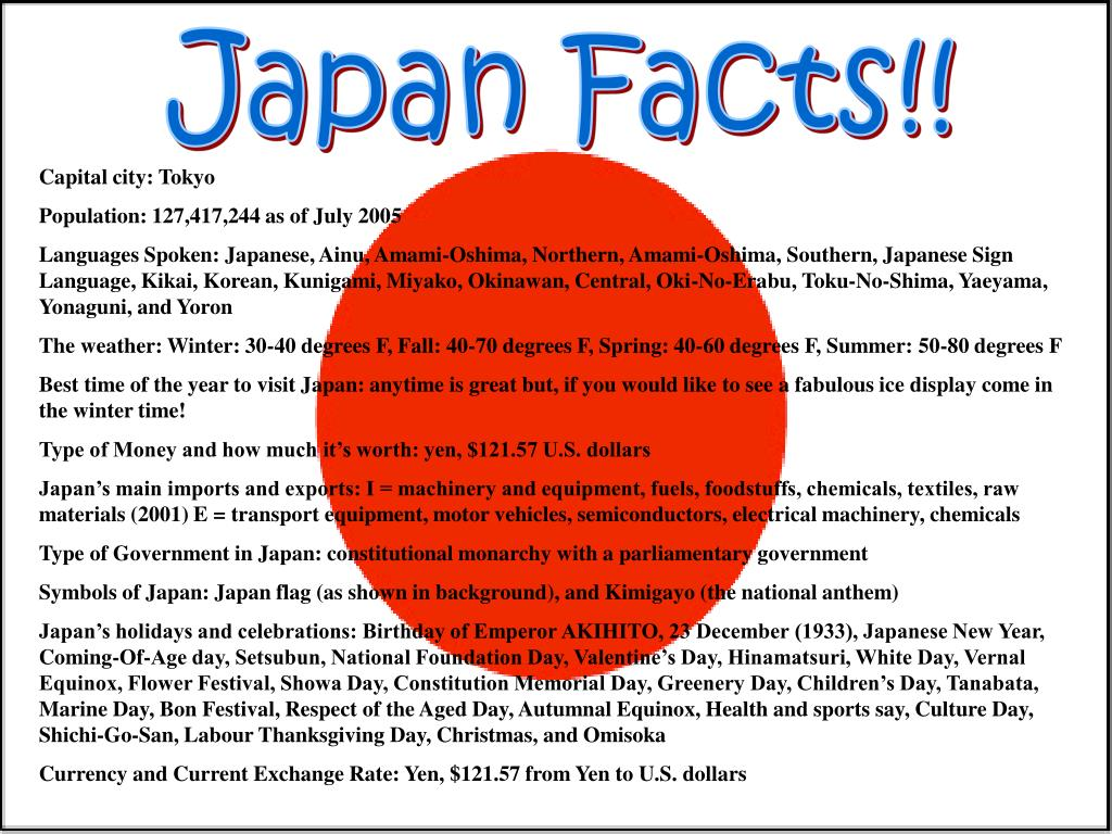 Japan Facts!!