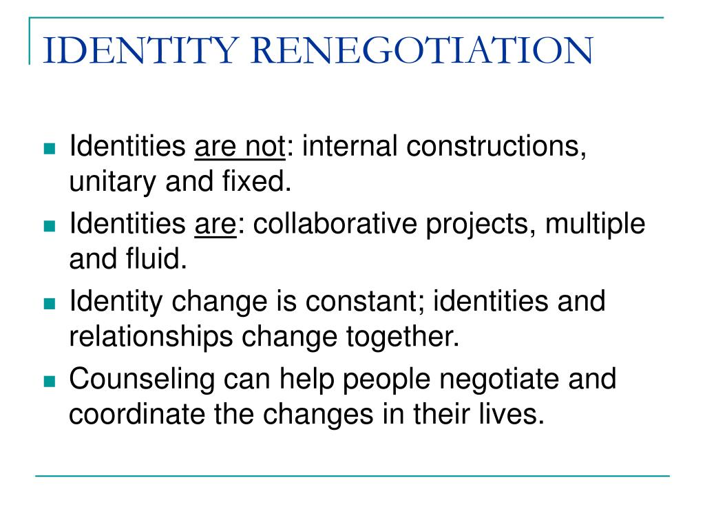 IDENTITY RENEGOTIATION