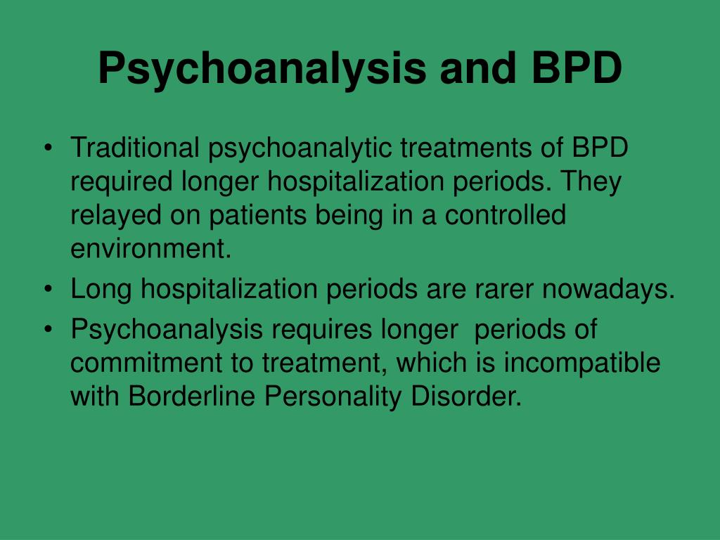 Psychoanalysis and BPD