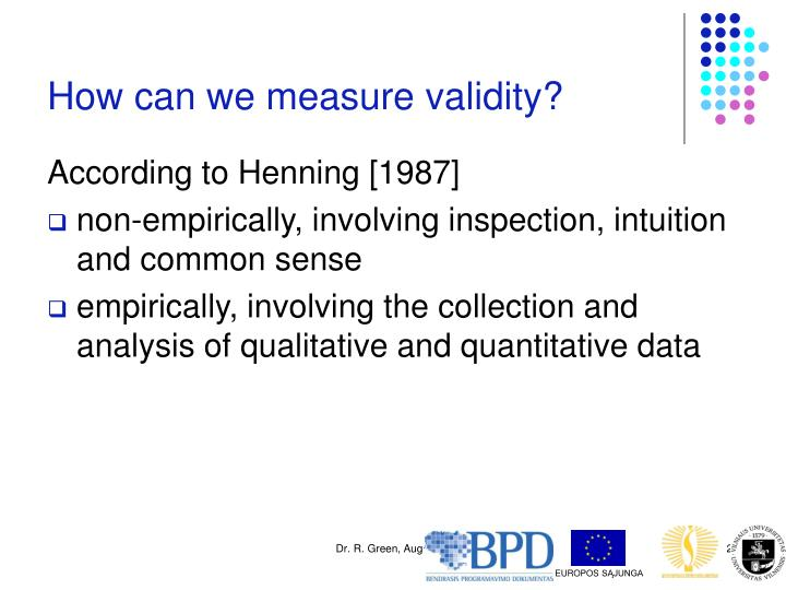 How can we measure validity?
