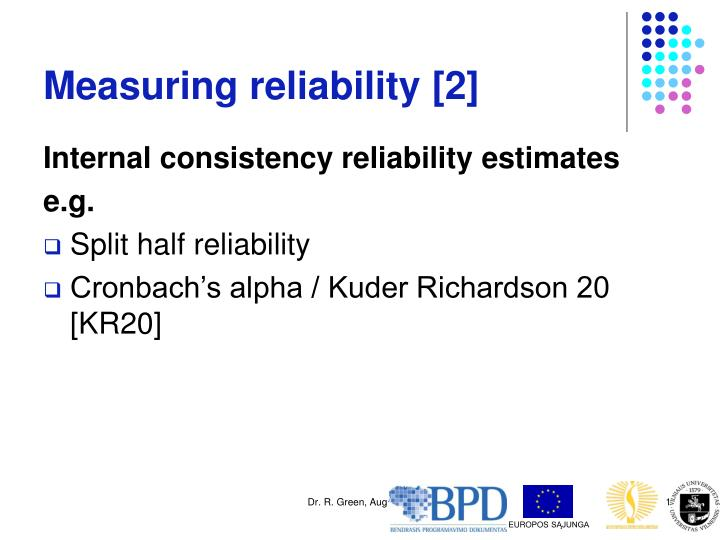 Measuring reliability [2]