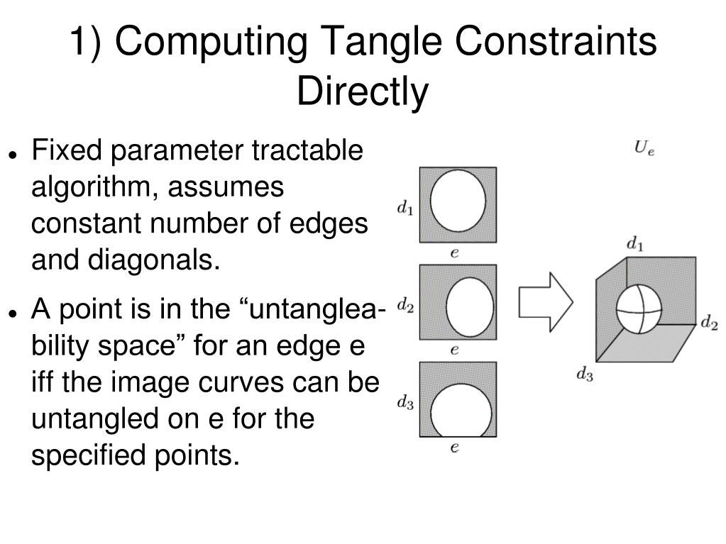 1) Computing Tangle Constraints Directly