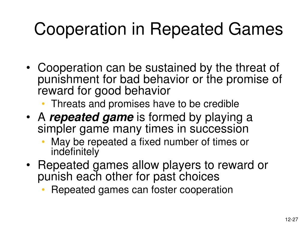 Cooperation in Repeated Games