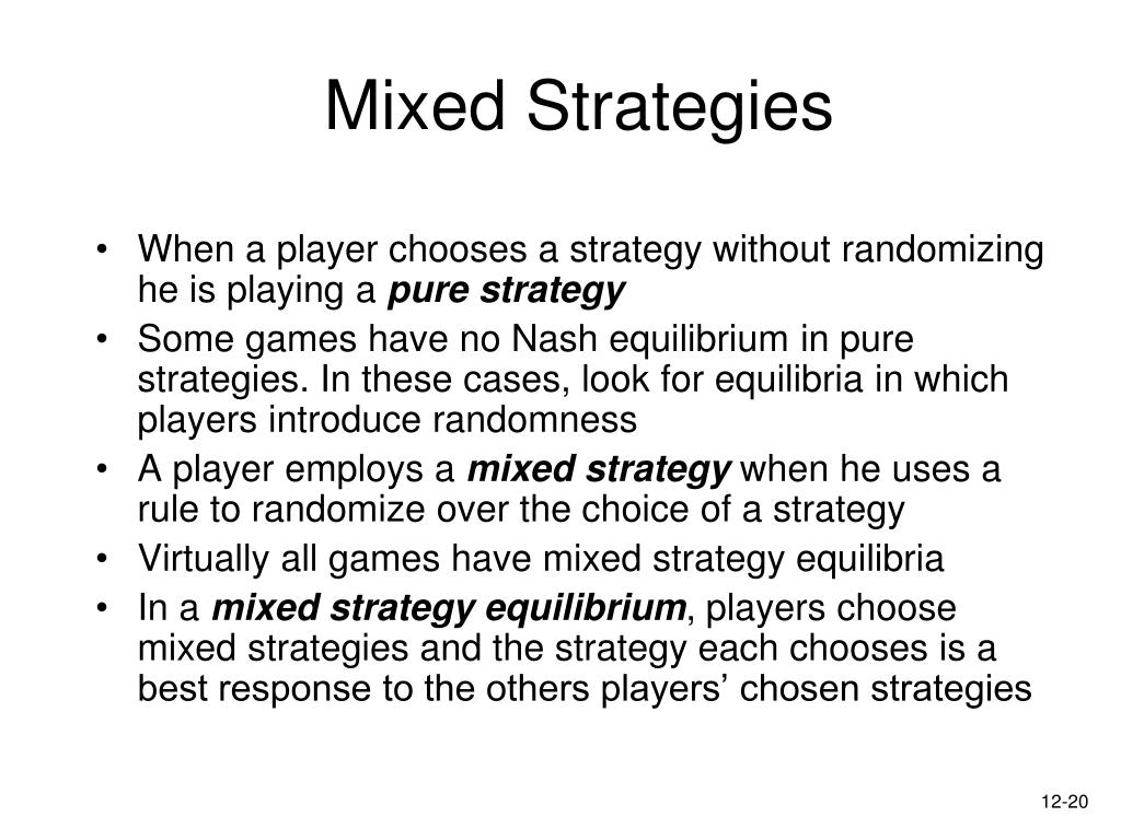 Mixed Strategies
