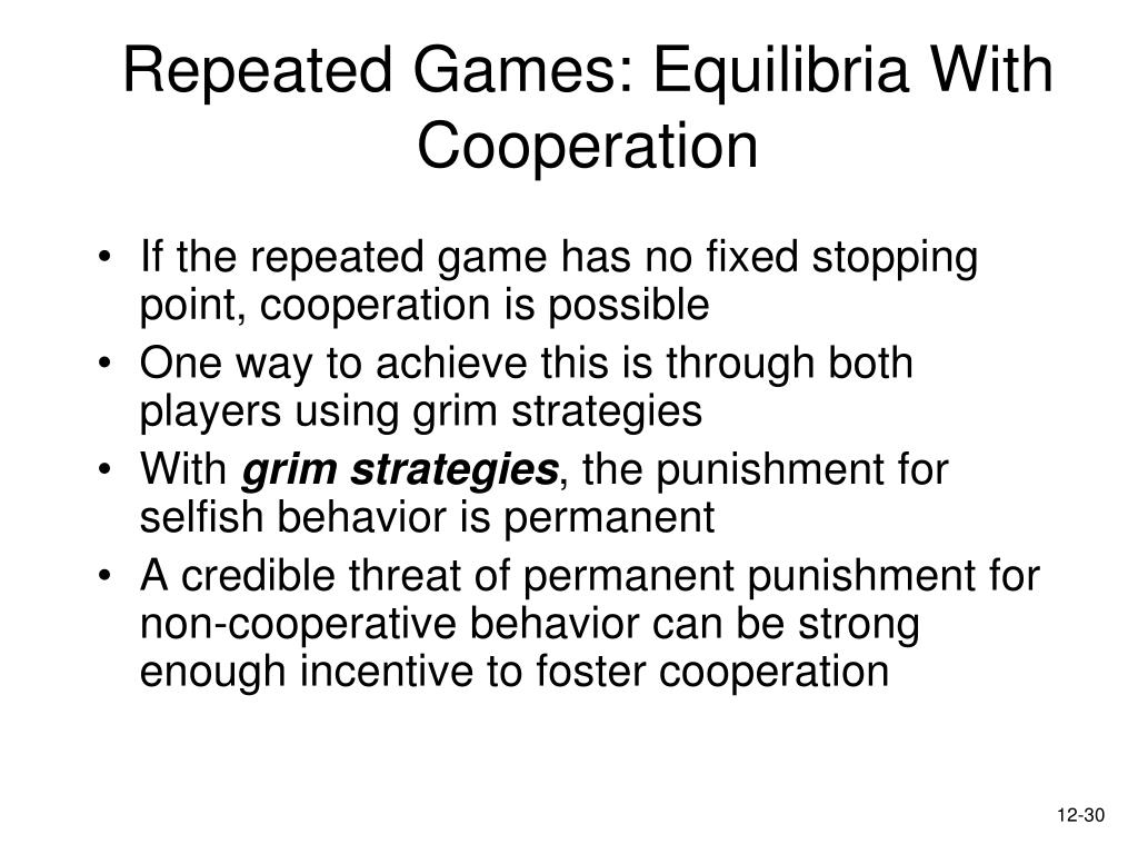 Repeated Games: Equilibria With Cooperation