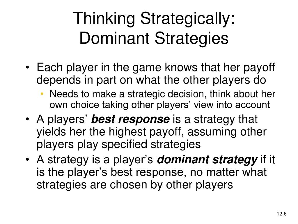 Thinking Strategically: