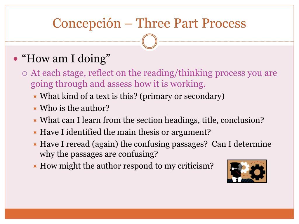 Concepción – Three Part Process
