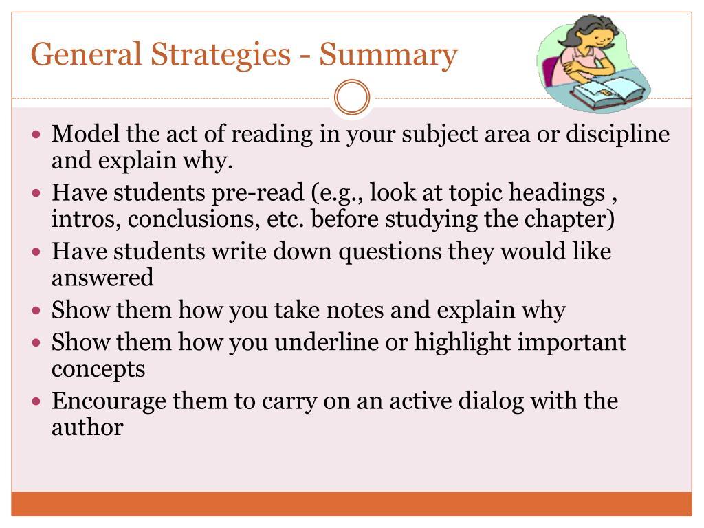 General Strategies - Summary