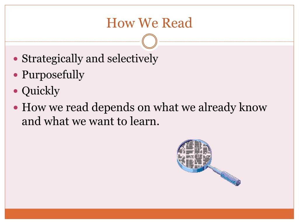 How We Read