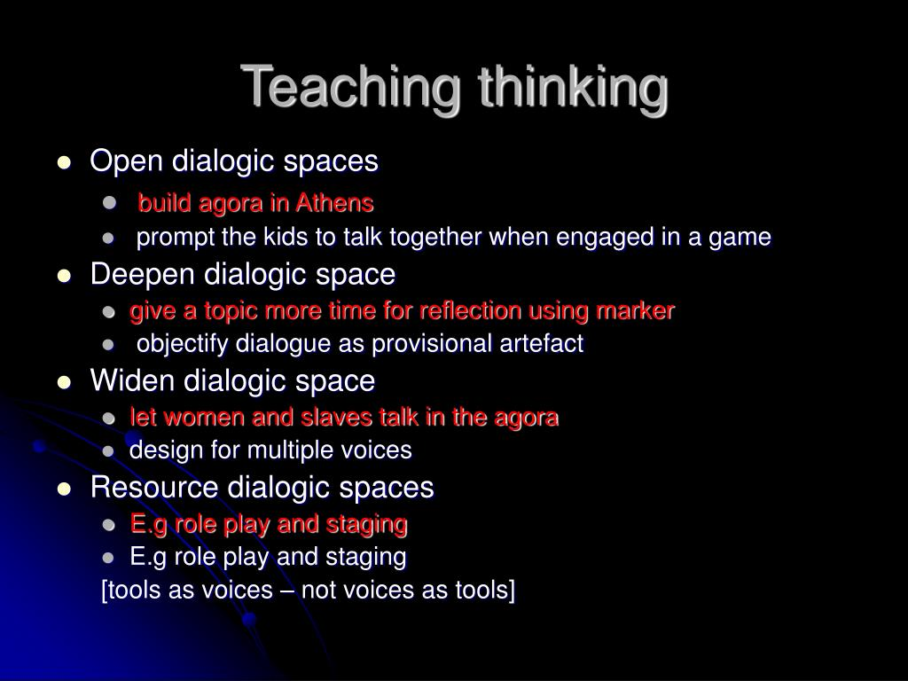 Teaching thinking