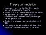 theses on mediation