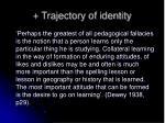 trajectory of identity