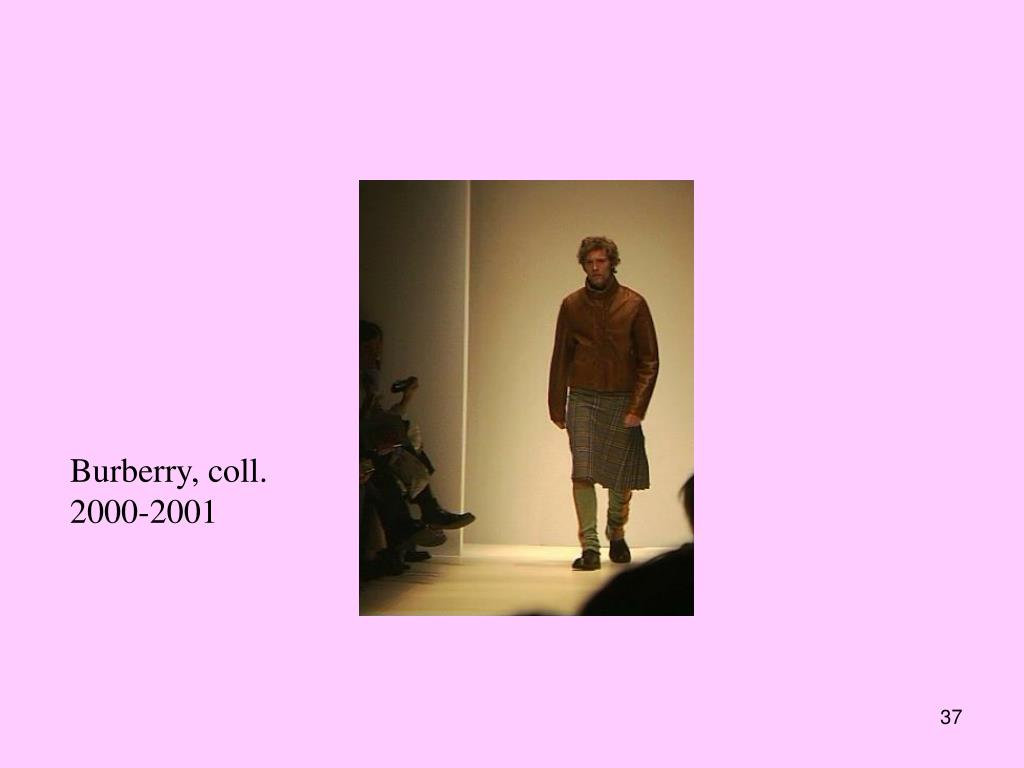 Burberry, coll. 2000-2001
