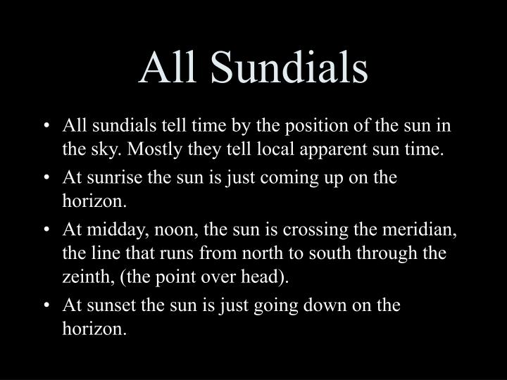 All sundials