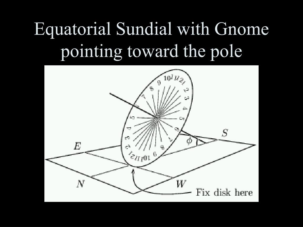 Equatorial Sundial with Gnome