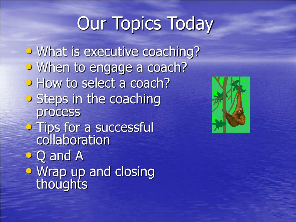 Our Topics Today