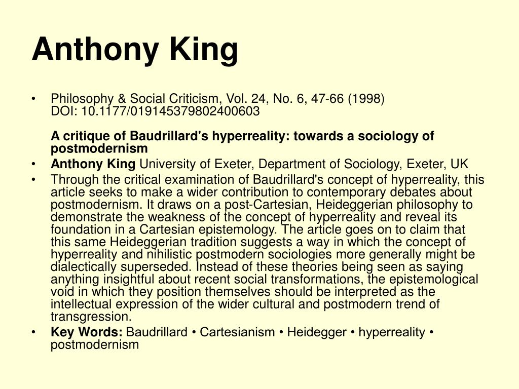 Anthony King