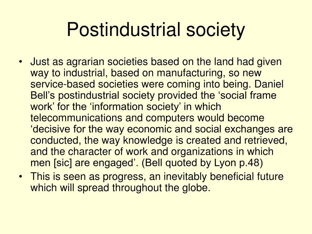 Postindustrial society