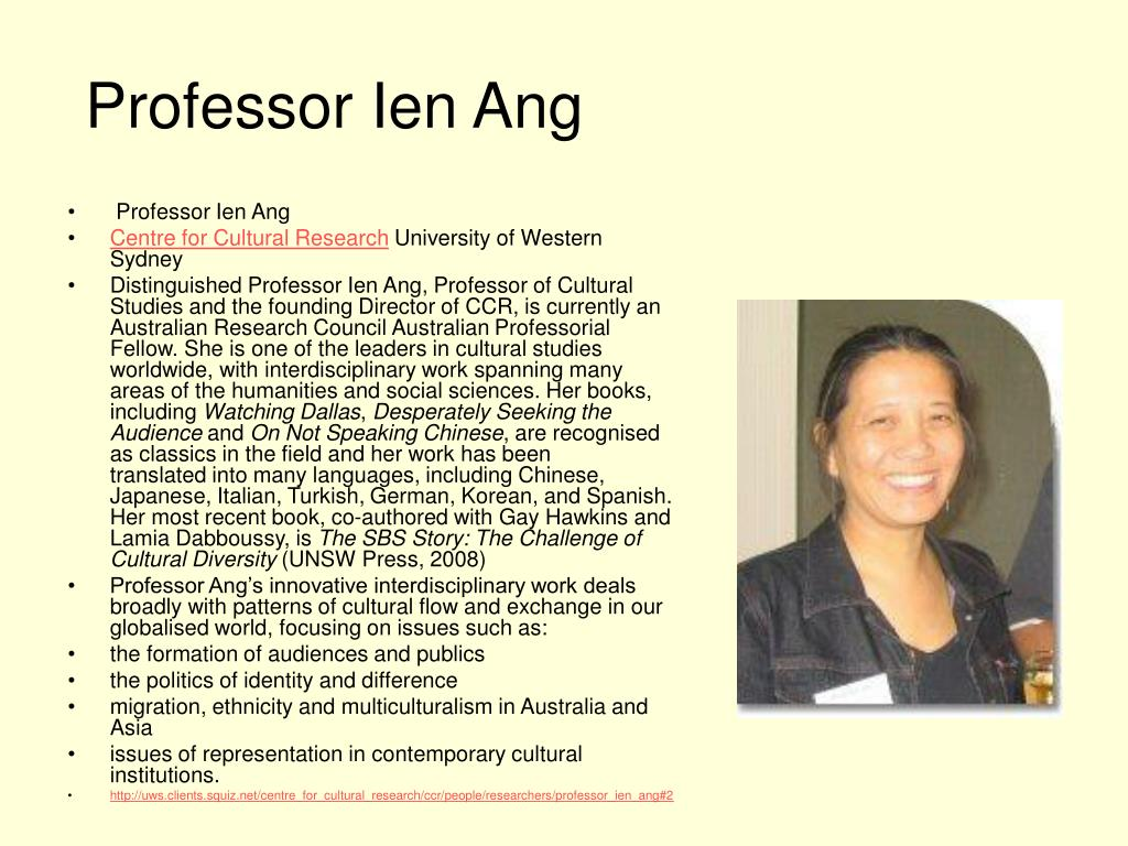Professor Ien Ang