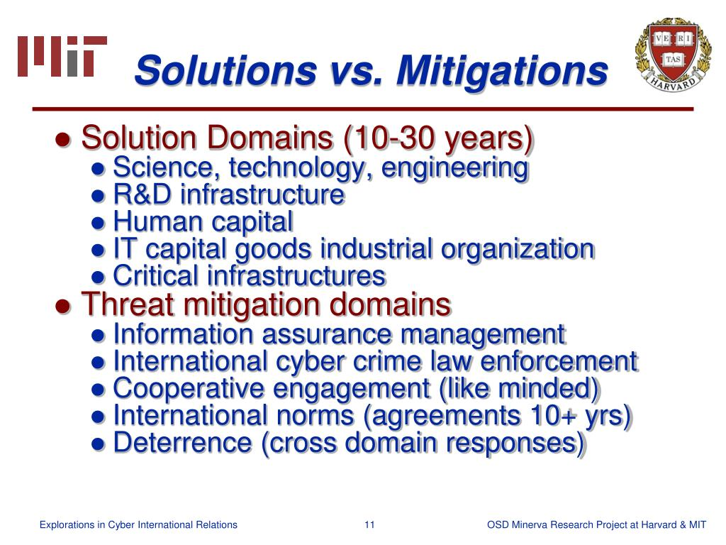 Solutions vs. Mitigations