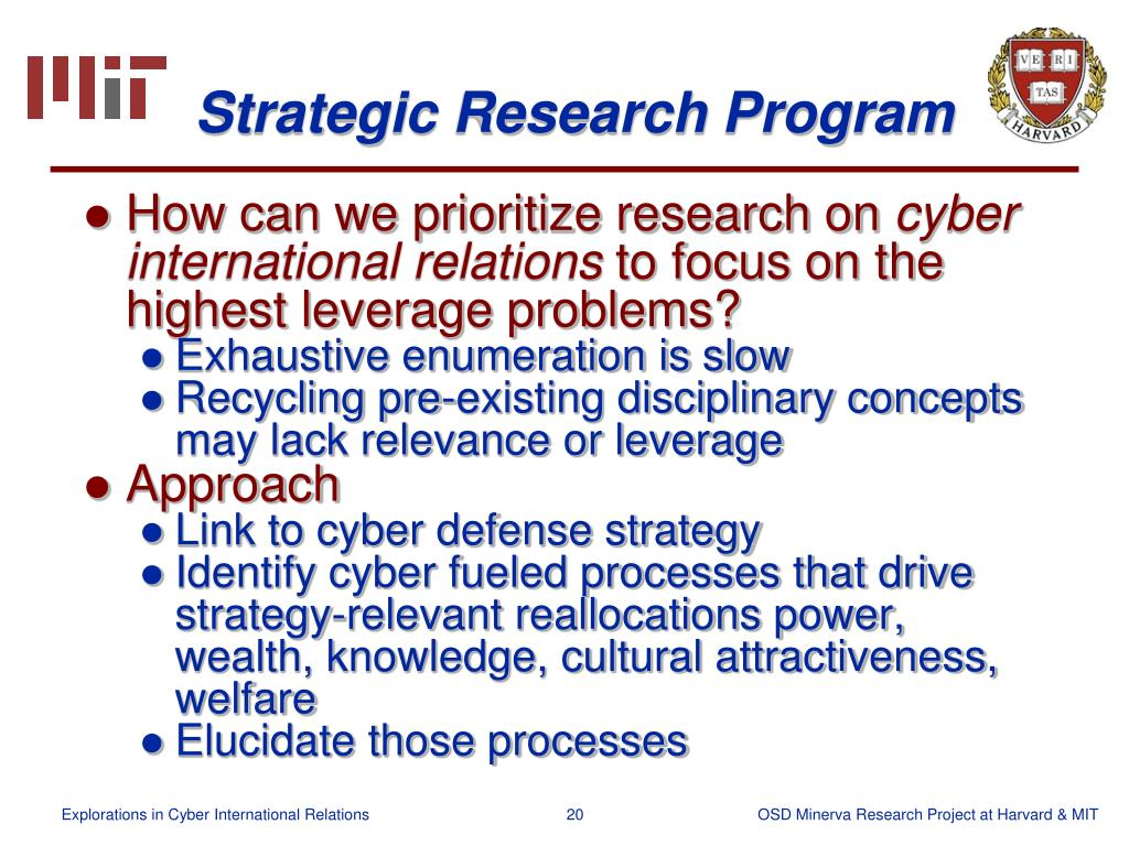 Strategic Research Program