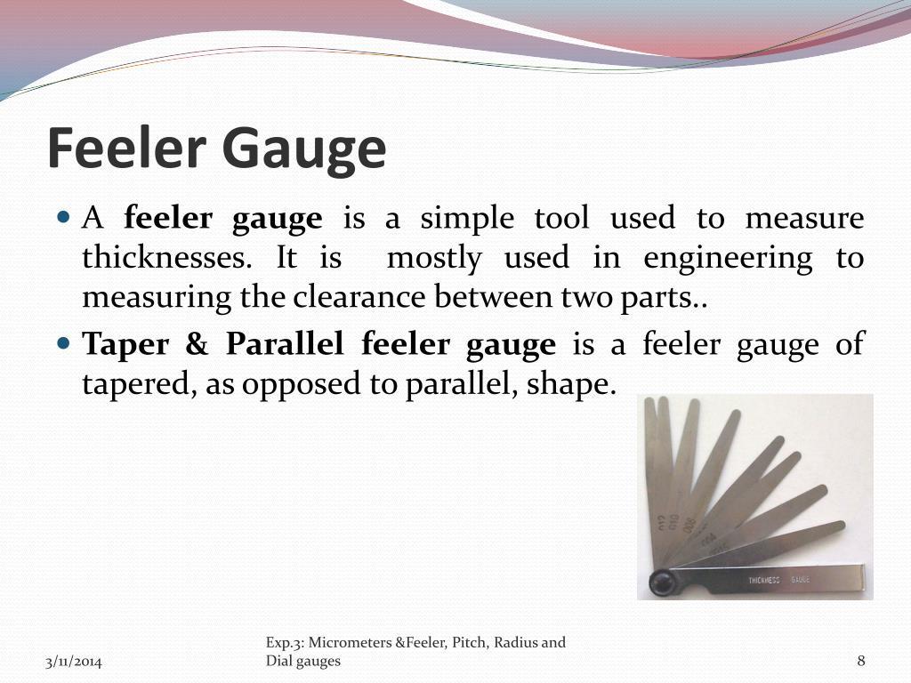 Feeler Gauge