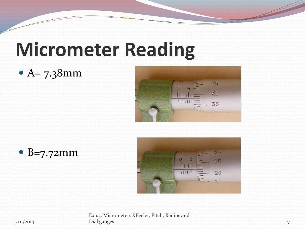 Micrometer Reading