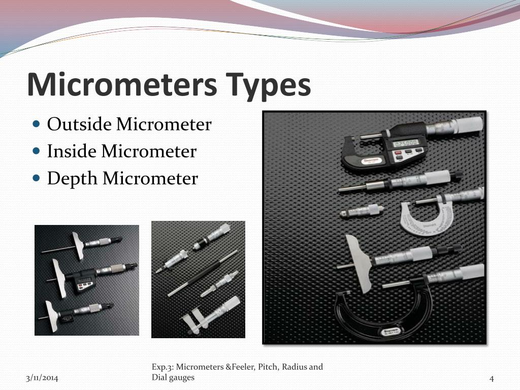Micrometers Types