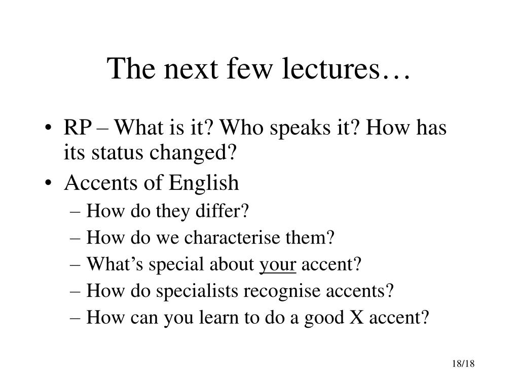 The next few lectures…