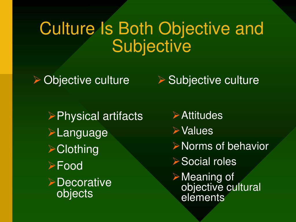 Objective culture